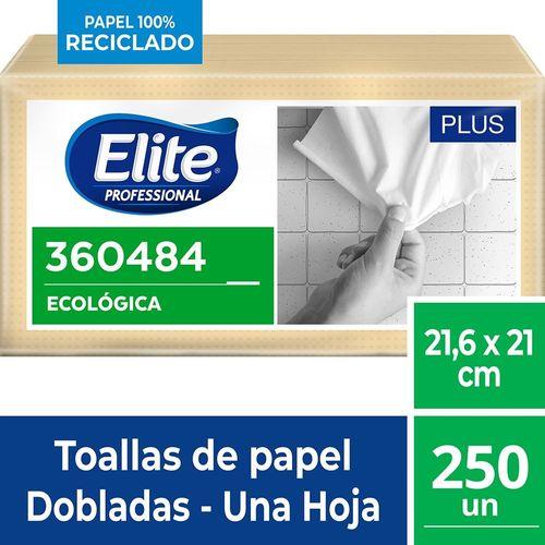 Toalla Interfoliada Plus Una Hoja 250 Un Elite Professional