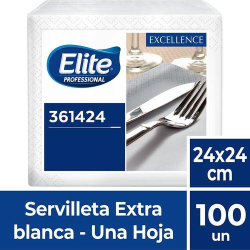 Servilleta Excellence Blanco Una Hoja 100 Un Elite Professional
