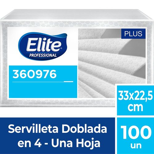 Servilleta Restaurante Plus Una Hoja 100 Un Elite Professional