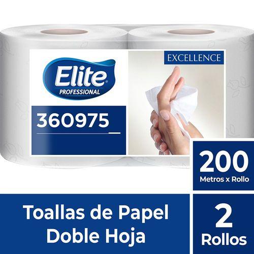 Toalla Rollo Excellence Doble Hoja 2 Un 200 M Elite Professional