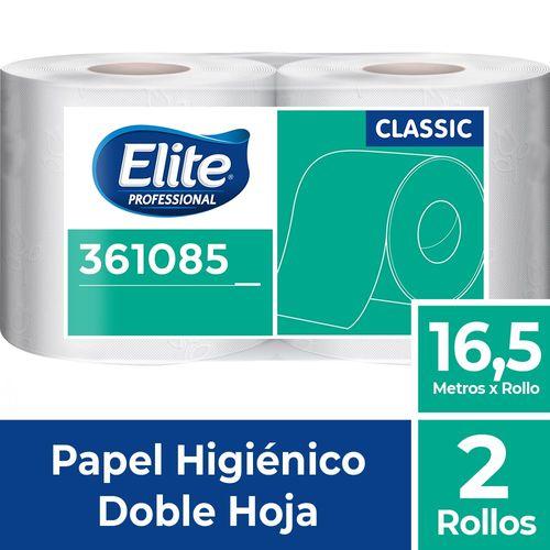 Papel Higiénico Rollo Classic Doble Hoja 2 Un 16.5 M Elite Professional