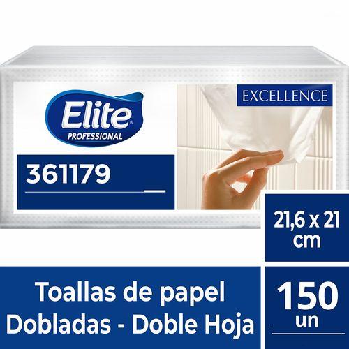 Toalla Interfoliada Excellence Doble Hoja 150 Un Elite Professional