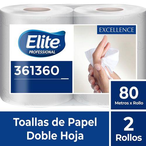 Toalla Rollo Excellence Doble Hoja 2 Un 80 M Elite Professional