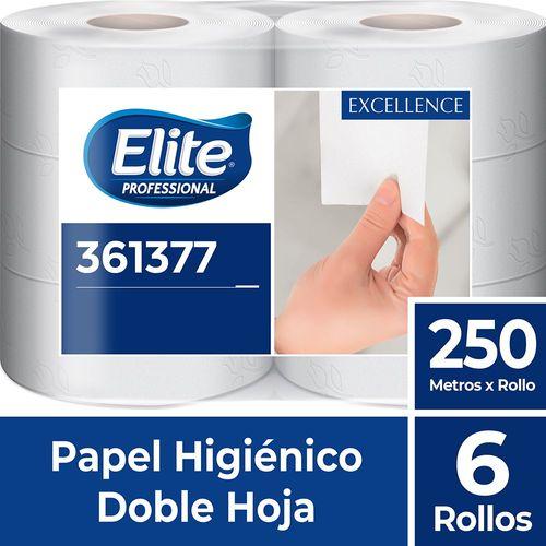 Papel Higiénico Rollo Excellence Doble Hoja 6 Un 250 M Elite Professional