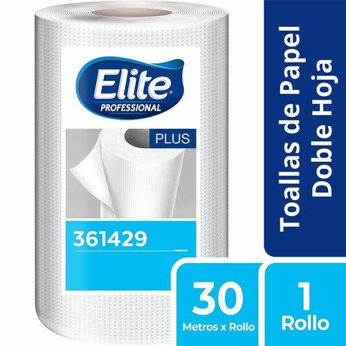 Toalla Rollo Plus Doble Hoja 1 Un 30 M Elite Professional