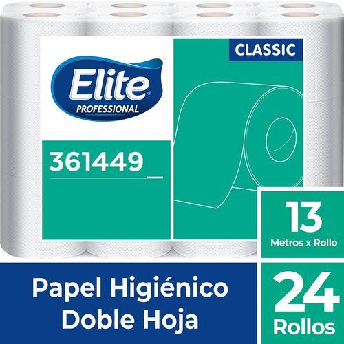 Papel Higiénico Rollo Classic Doble Hoja 24 Un 13 M Elite Professional
