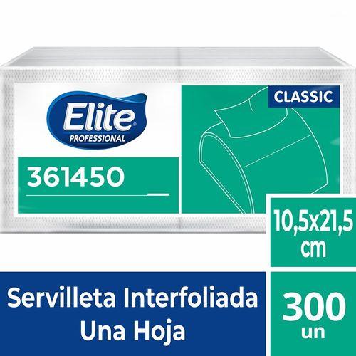 Servilleta Interfoliada Classic Una Hoja 300 Un Elite Professional