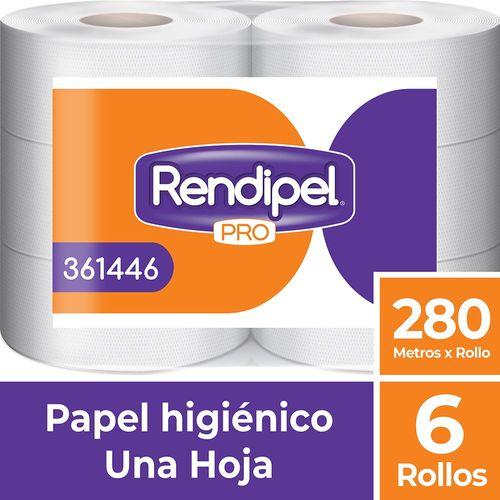 Papel Higiénico Rollo Una Hoja 6 Un 280 M Rendipel