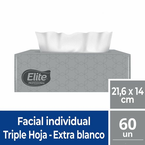 Faciales Caja Triple Hoja 60 Un Elite Professional