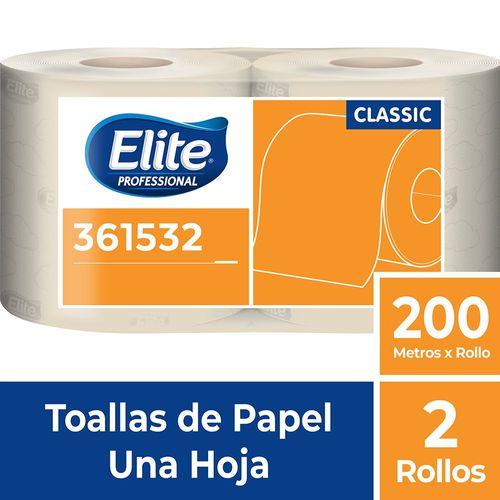 Toalla Rollo Classic Una Hoja 2 Un 200 M Elite Professional