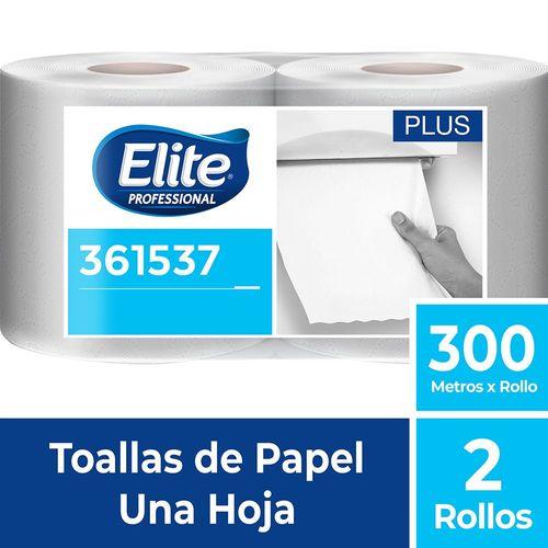 Toalla Rollo Plus Una Hoja 2 Un 300 M Elite Professional