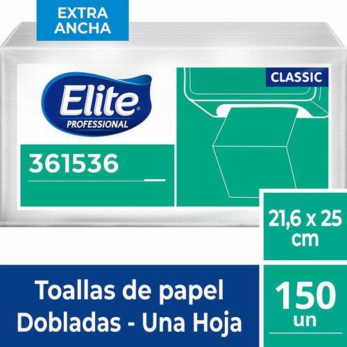 Toalla Interfoliada Classic Doble Hoja 150 Un Elite Professional