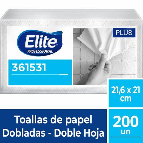Toalla Interfoliada Plus Doble Hoja 200 Un Elite Professional