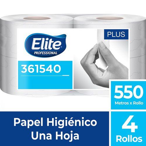 Papel Higiénico Rollo Plus Una Hoja 4 Un 550 M Elite Professional