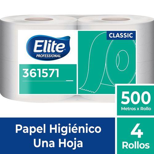 Papel Higiénico Rollo Classic Una Hoja 4 Un 500 M Elite Professional