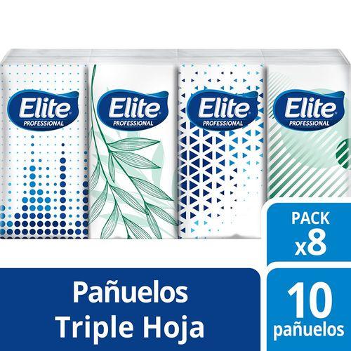 Pañuelos Paquete Triple Hoja 8 Minipacks Elite Professional