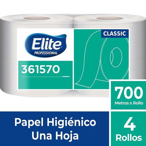 Papel Higiénico Rollo Classic Una Hoja 4 Un 700 M Elite Professional