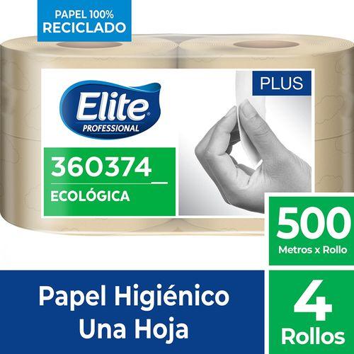 Papel Higiénico Rollo Plus Una Hoja 4 Un 500 M Elite Professional