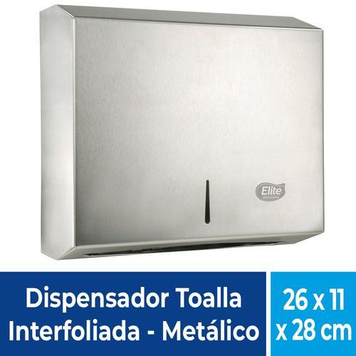 Dispensador De Papel Toalla Interfoliada Inox 1 Un Elite Professional