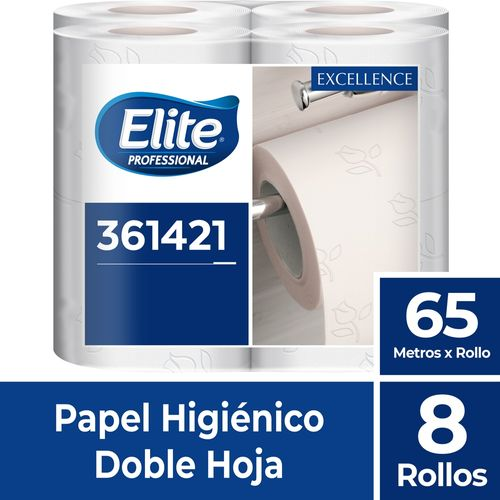 Papel Higiénico Rollo Excellence Doble Hoja 8 Un 65 M Elite Professional