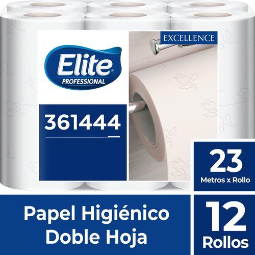 Papel Higiénico Rollo Excellence Doble Hoja 12 Un 23 M Elite Professional